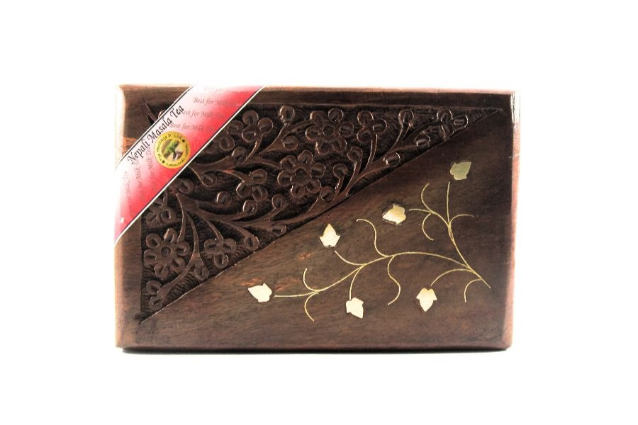 It is a high quality Nepali Masala tea packed in a wooden box
